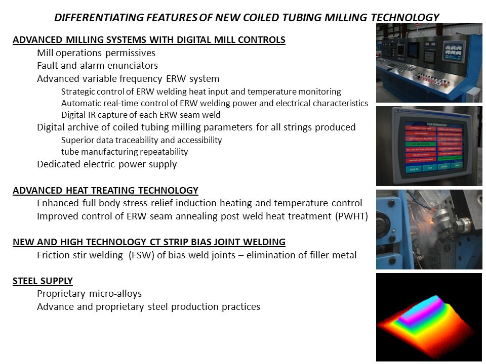 DIFFERENTIATING FEATURES OF NEW COILED TUBING MILLING TECHNOLOGY