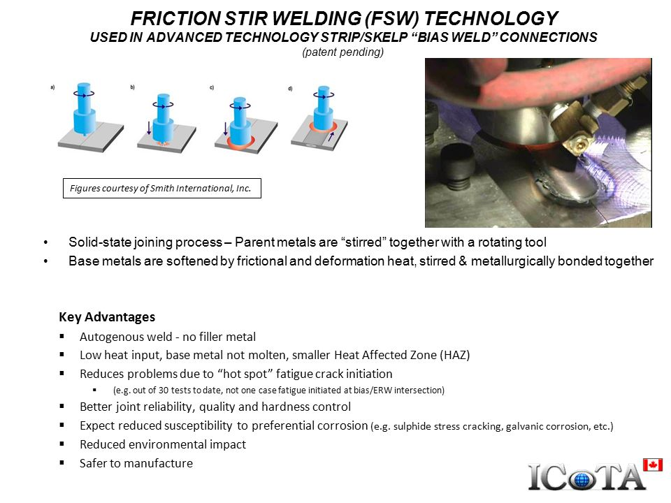 FRICTION STIR WELDING (FSW) TECHNOLOGY USED IN ADVANCED TECHNOLOGY STRIP/SKELP BIAS WELD CONNECTIONS (patent pending)