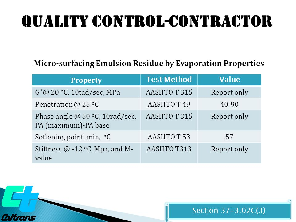 Quality control-contractor