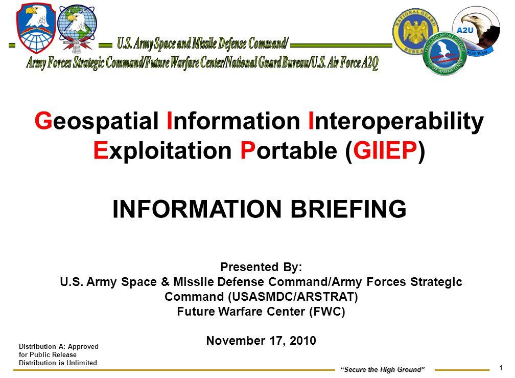 Geospatial Information Interoperability Exploitation Portable (GIIEP)