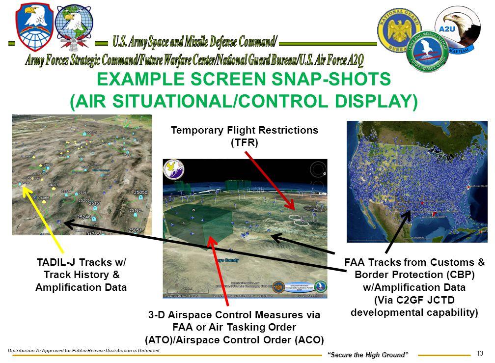 EXAMPLE SCREEN SNAP-SHOTS (AIR SITUATIONAL/CONTROL DISPLAY)