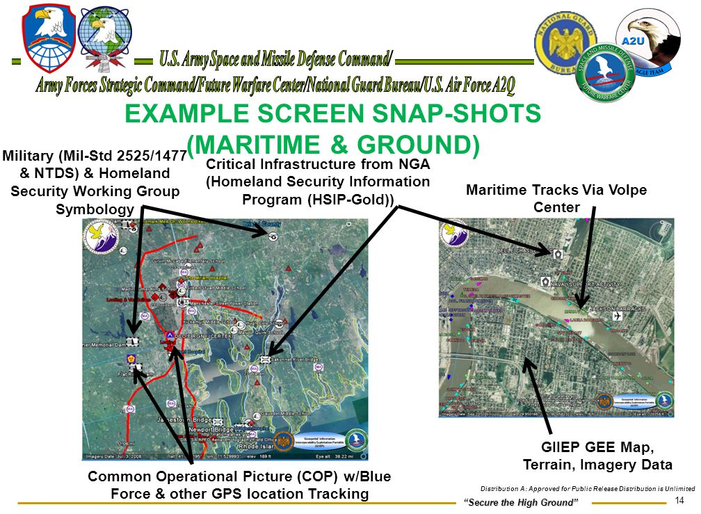 EXAMPLE SCREEN SNAP-SHOTS (MARITIME & GROUND)