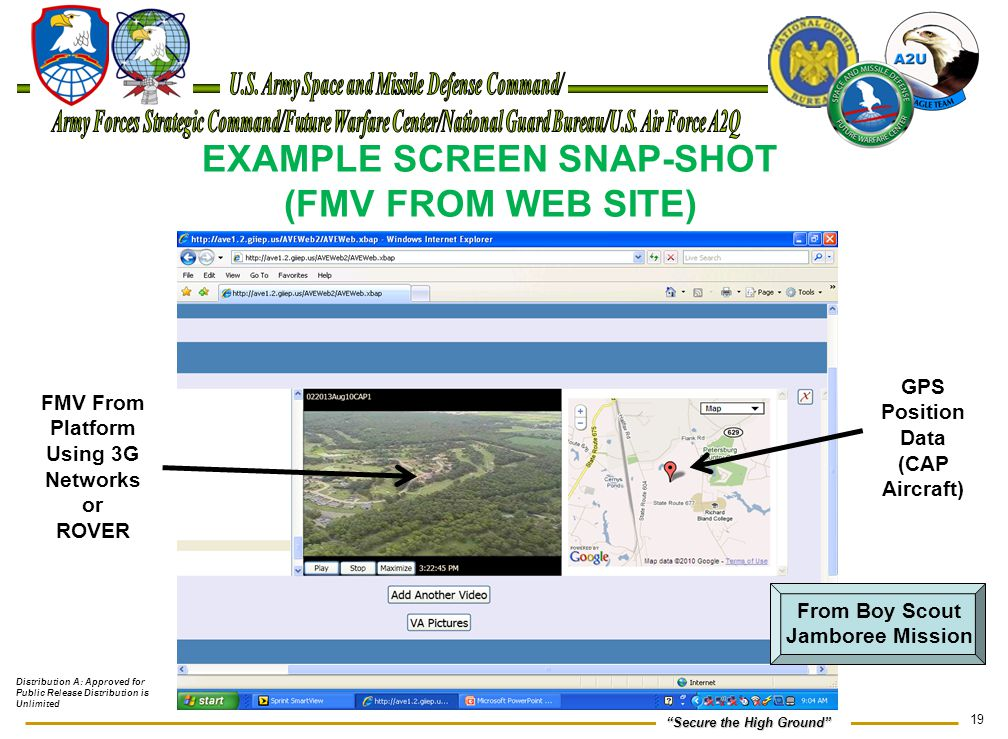 EXAMPLE SCREEN SNAP-SHOT (FMV FROM WEB SITE)