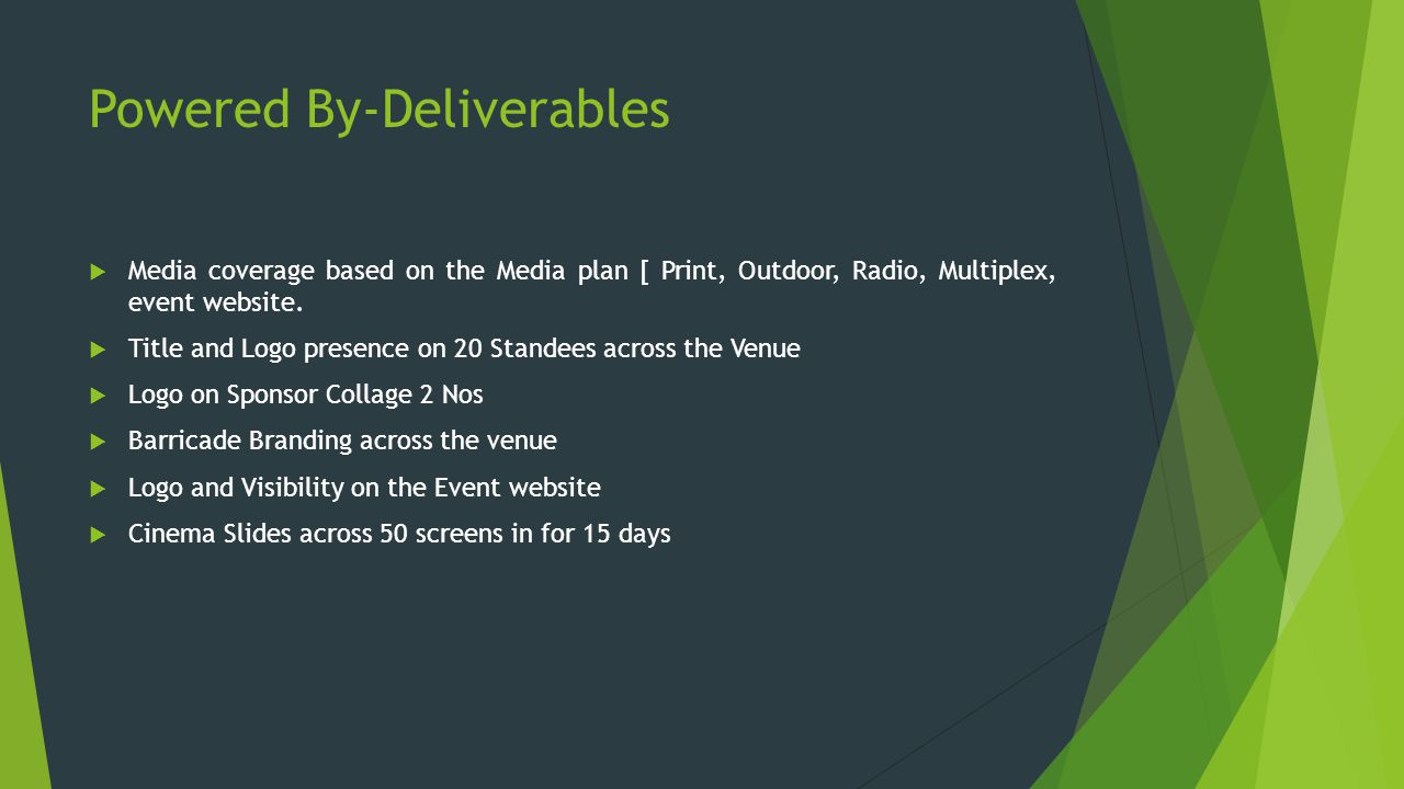 Powered By-Deliverables