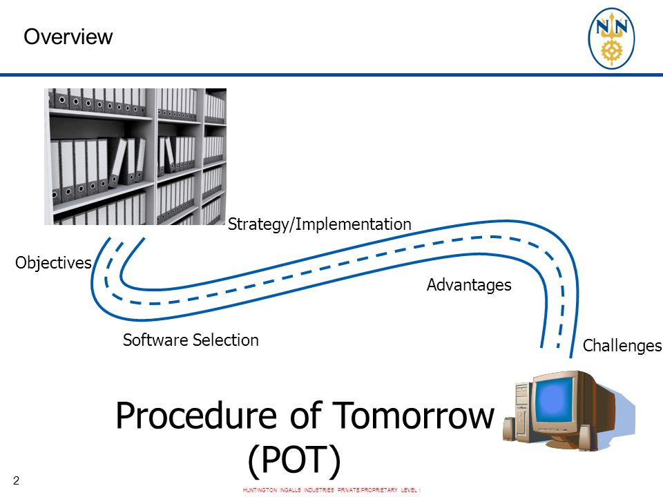 Procedure of Tomorrow (POT) Overview Strategy/Implementation