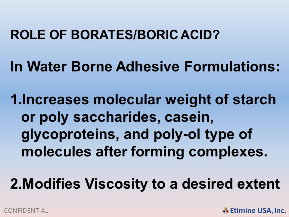 In Water Borne Adhesive Formulations: