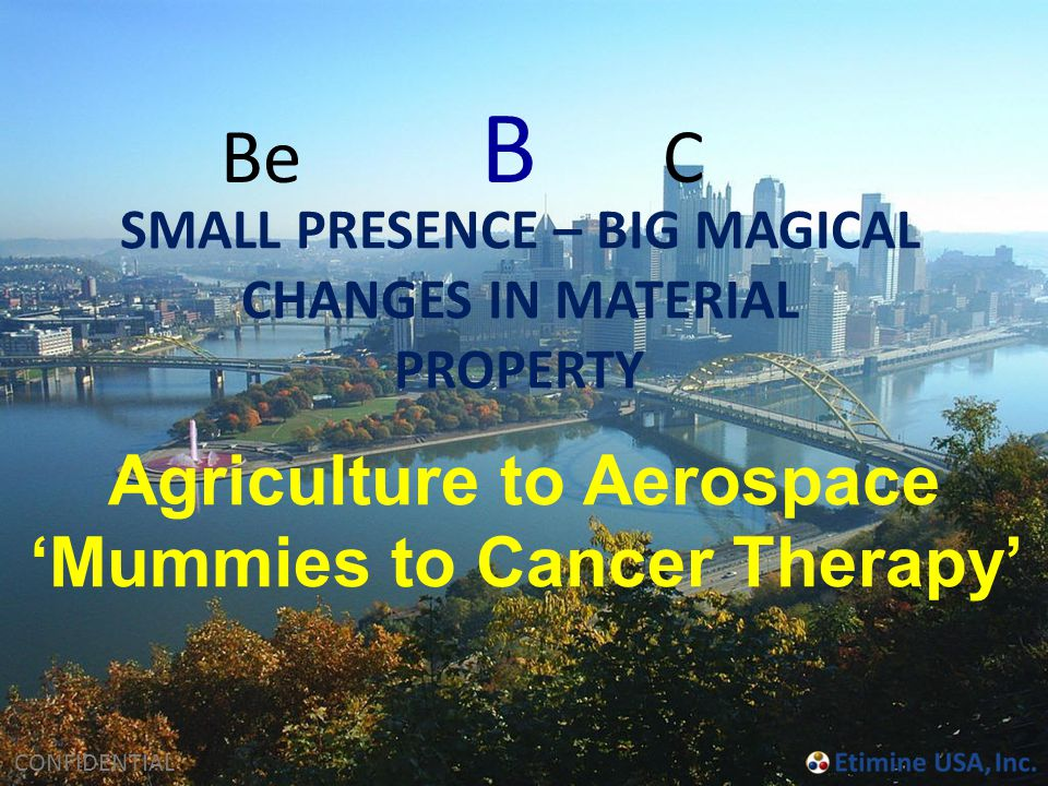 Be B C Agriculture to Aerospace 'Mummies to Cancer Therapy'