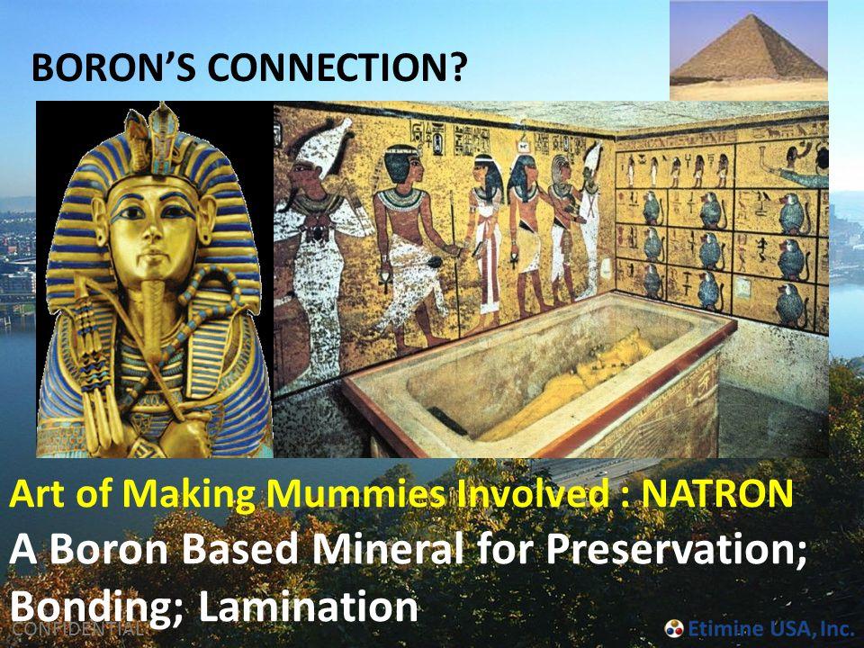 A Boron Based Mineral for Preservation; Bonding; Lamination