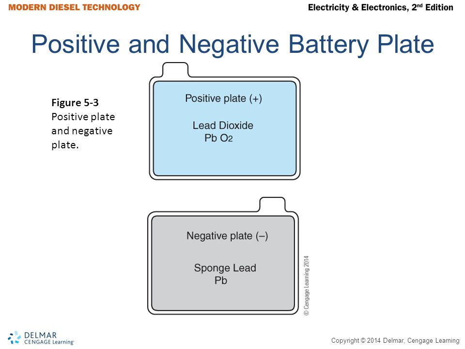 Positive and Negative Battery Plate