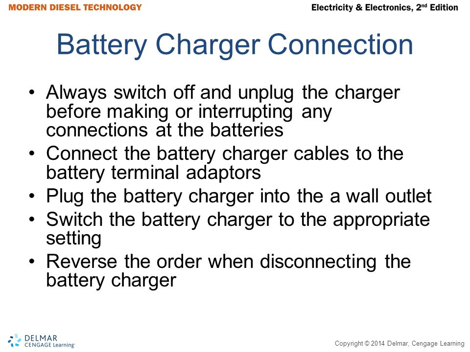 Battery Charger Connection