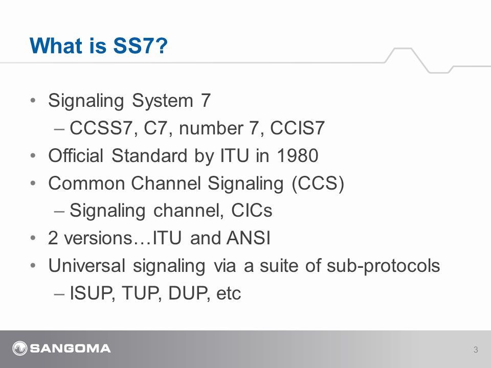 What is SS7 Signaling System 7 CCSS7, C7, number 7, CCIS7
