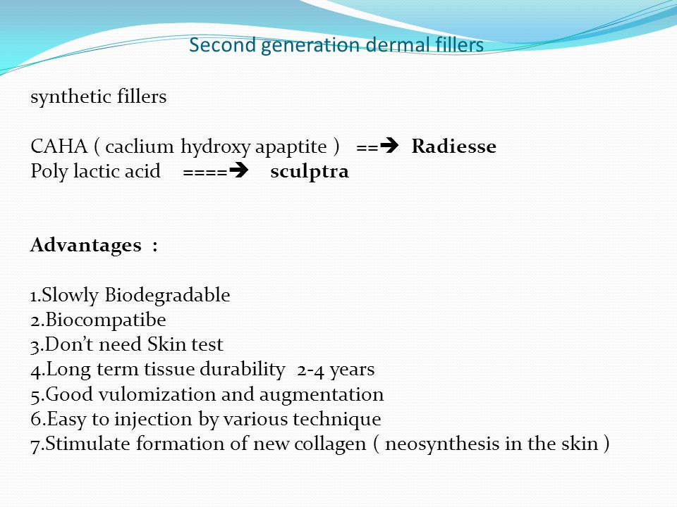 Second generation dermal fillers