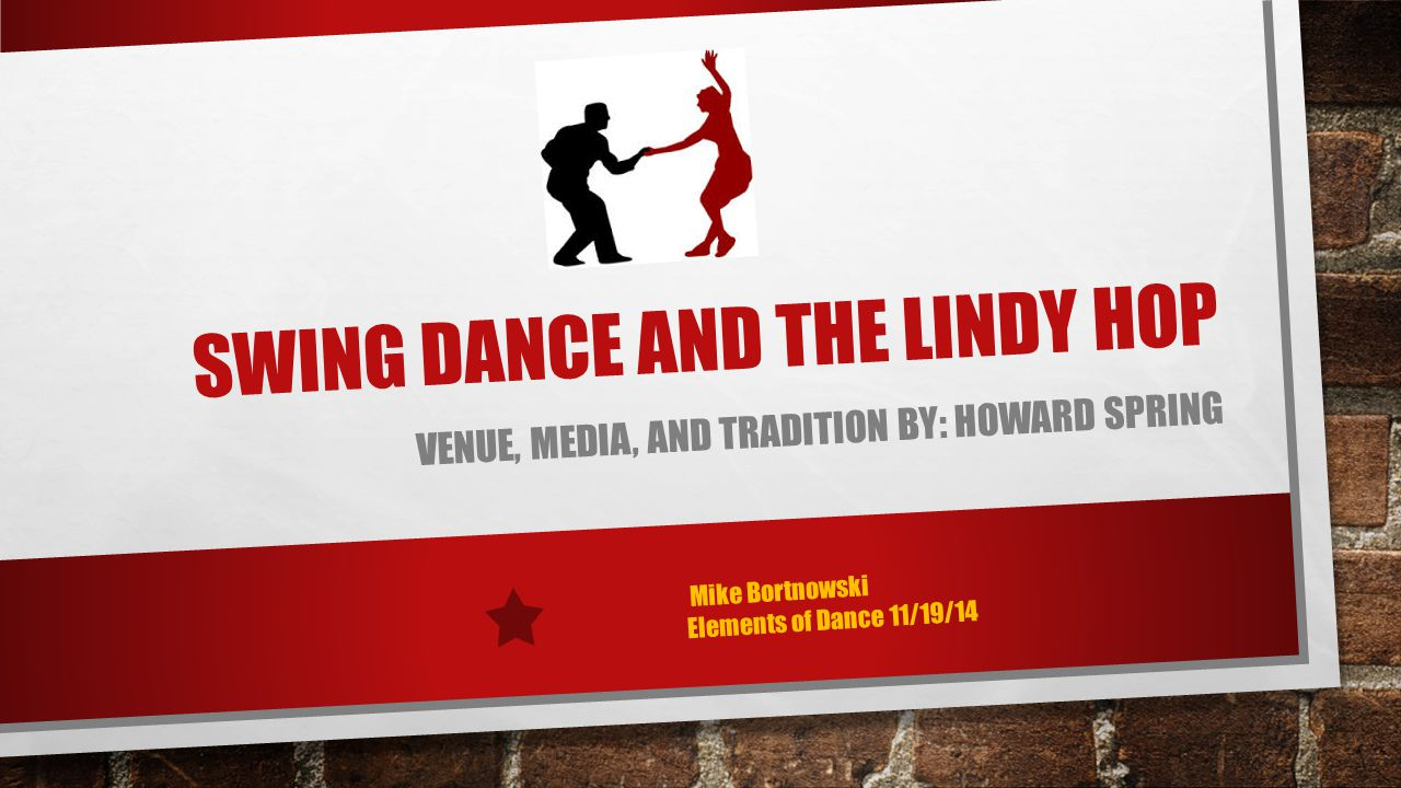 Swing dance and the lindy hop