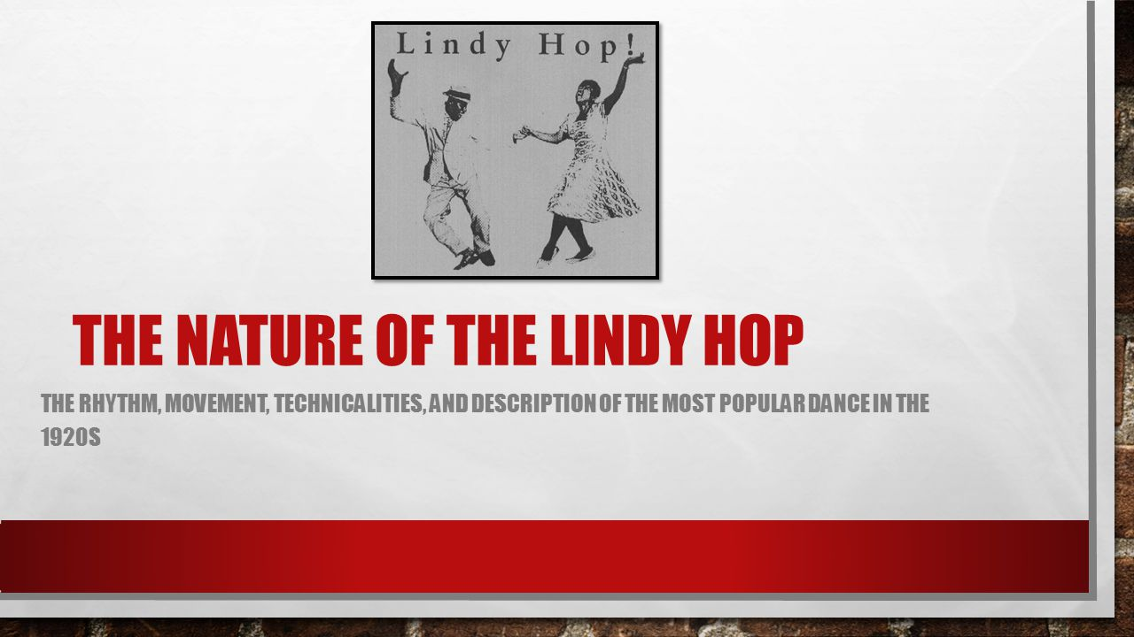 The nature of the lindy hop