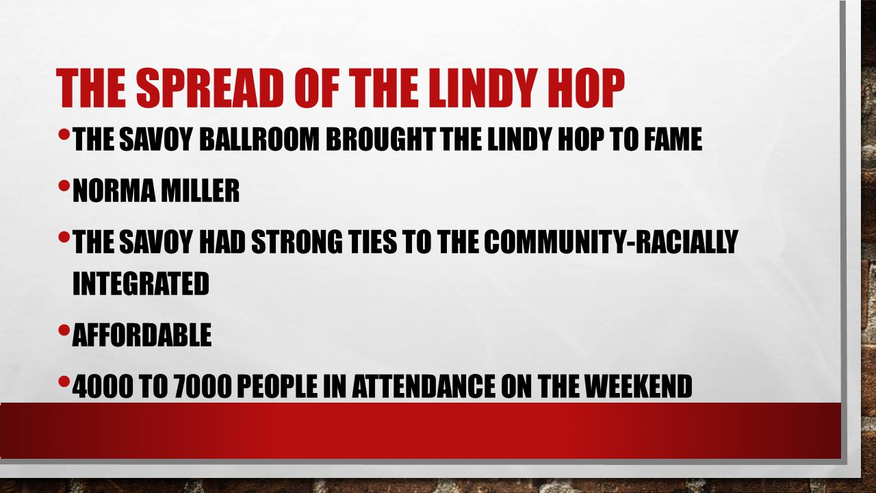 The spread of the lindy hop
