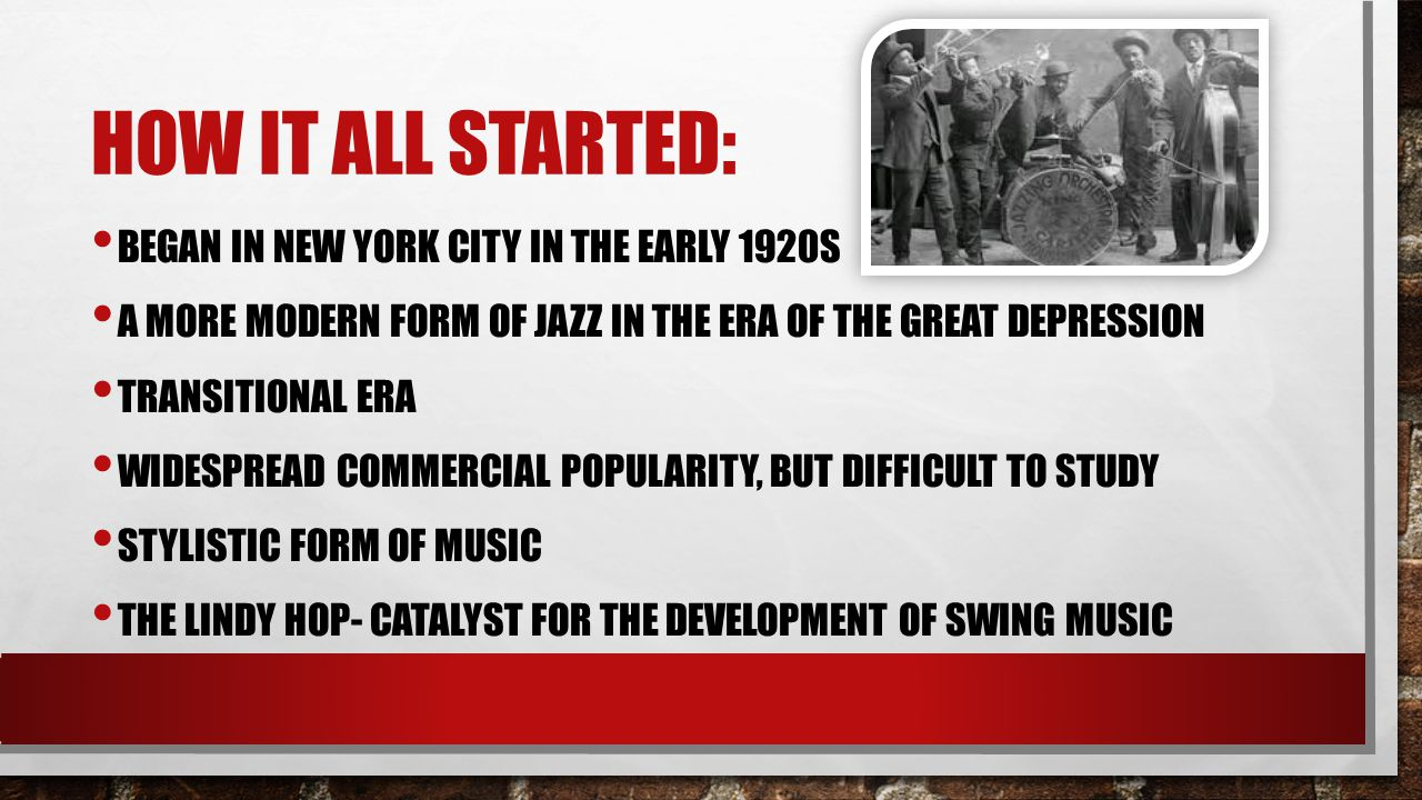 How it all started: Began in new York city in the early 1920s