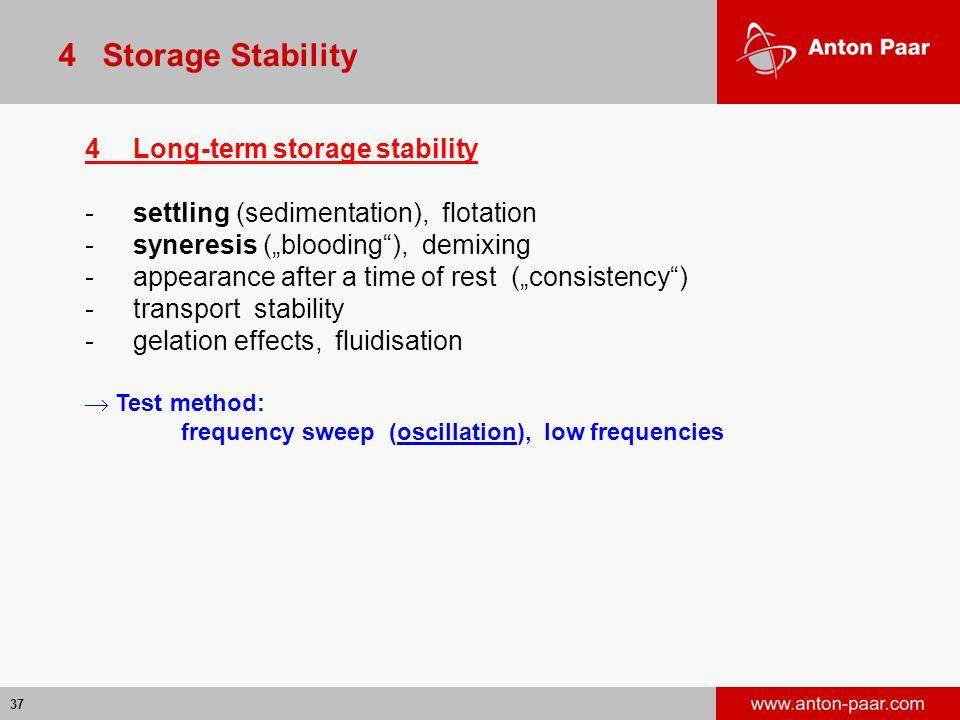 4 Storage Stability 4 Long-term storage stability