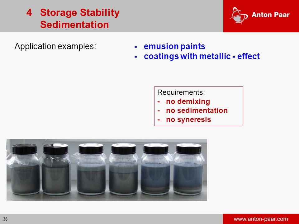 4 Storage Stability Sedimentation