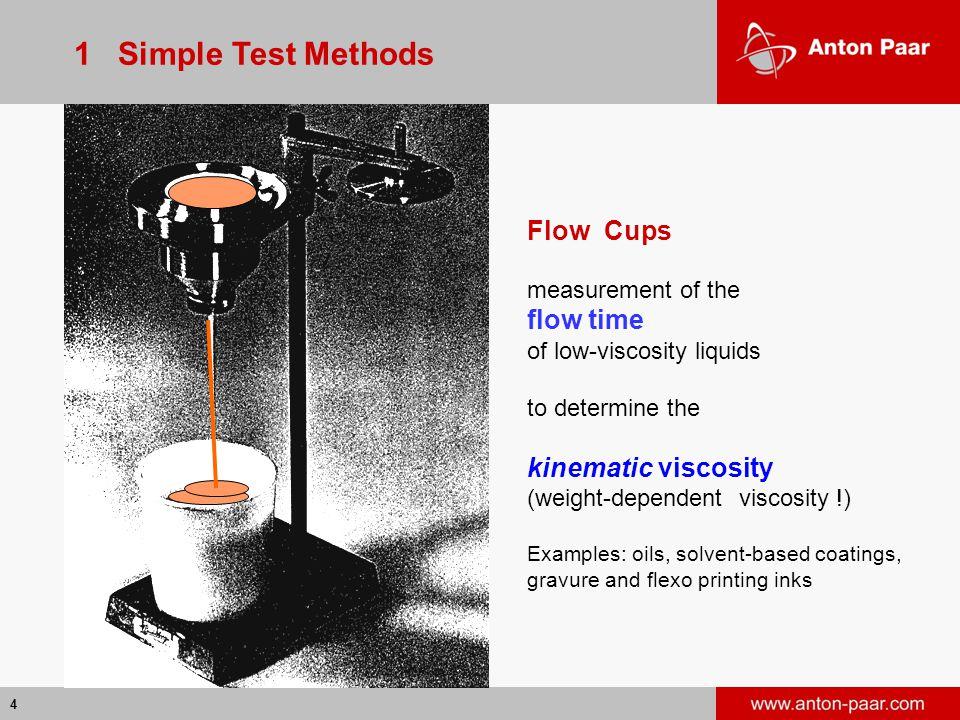 1 Simple Test Methods Flow Cups