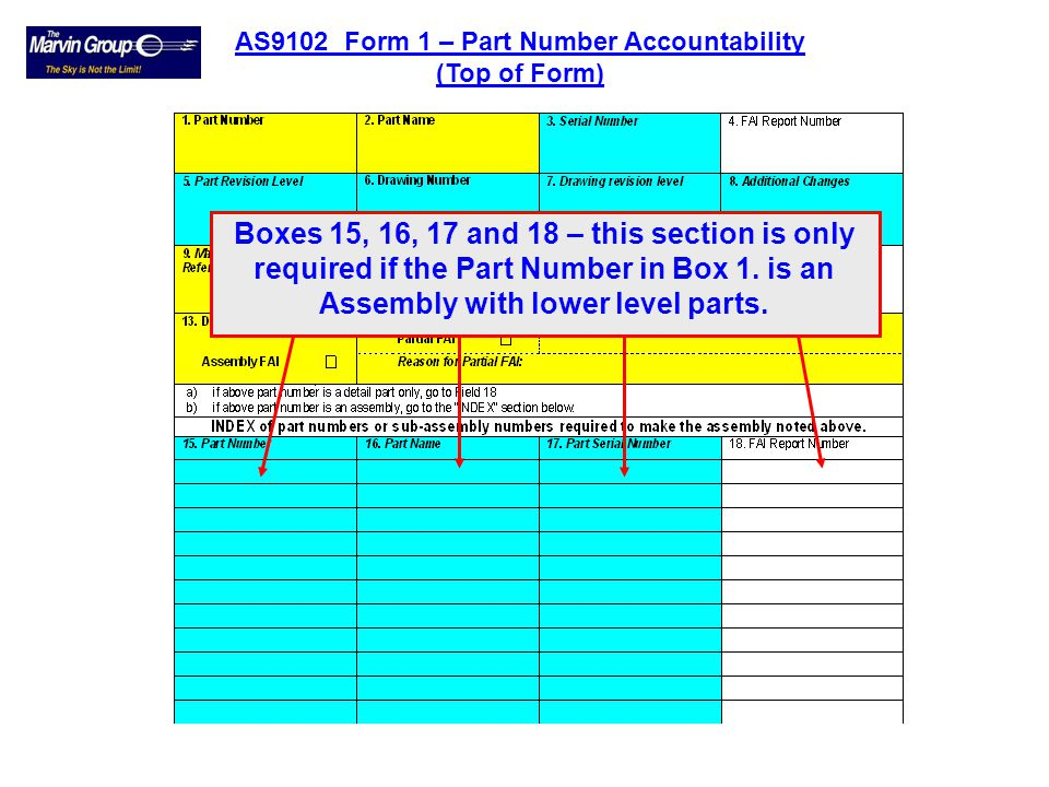 AS9102 Form 1 – Part Number Accountability
