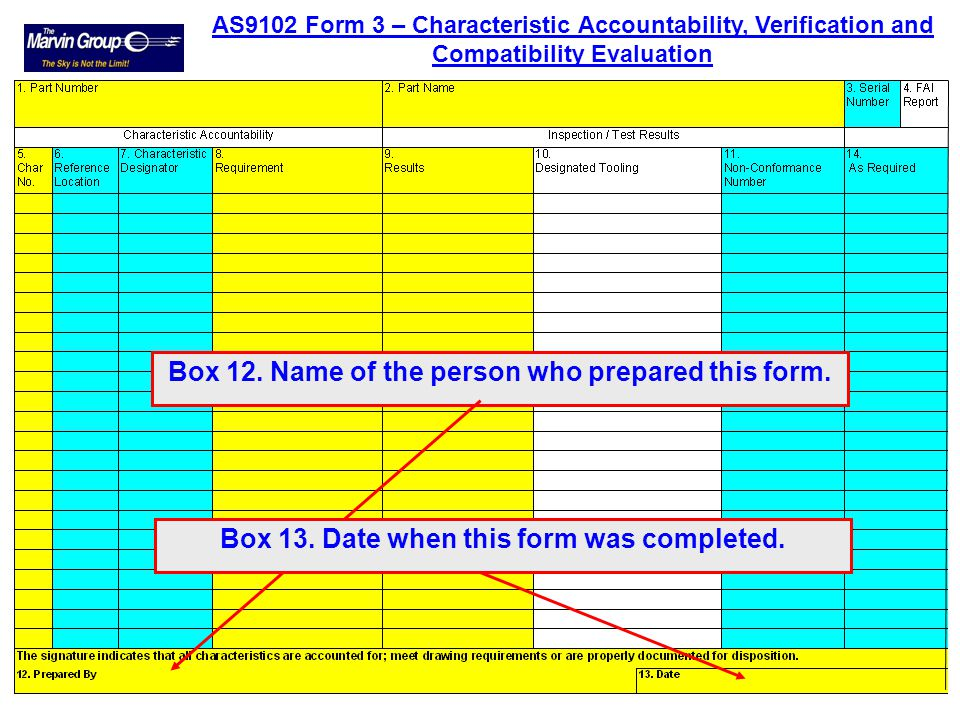 Box 12. Name of the person who prepared this form.