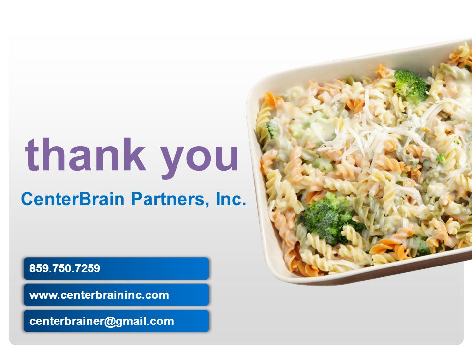 thank you CenterBrain Partners, Inc. 859.750.7259