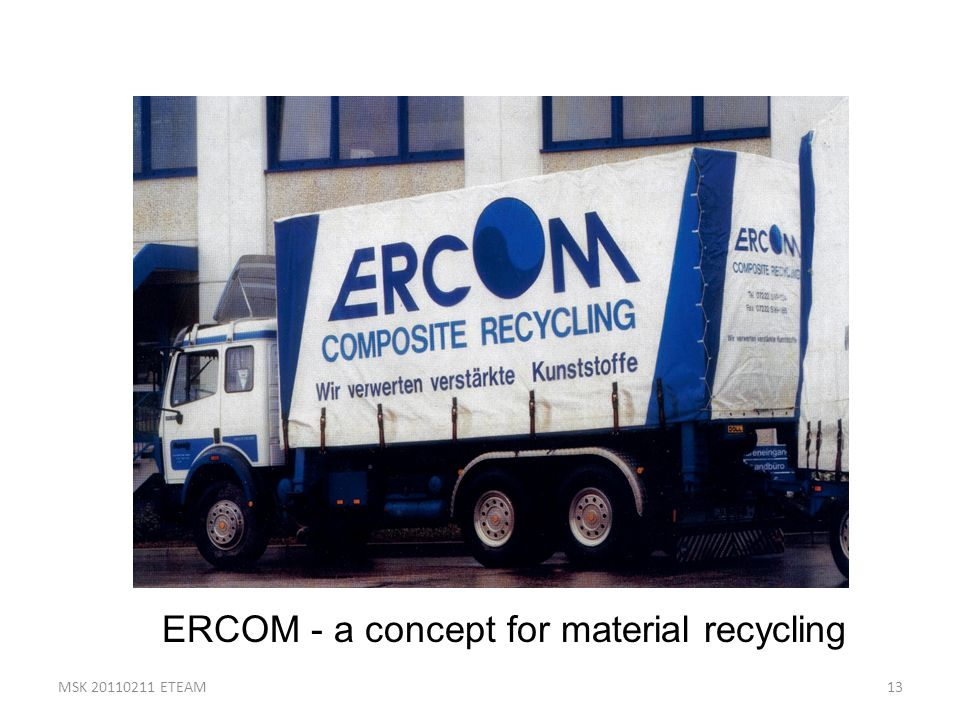 ERCOM - a concept for material recycling