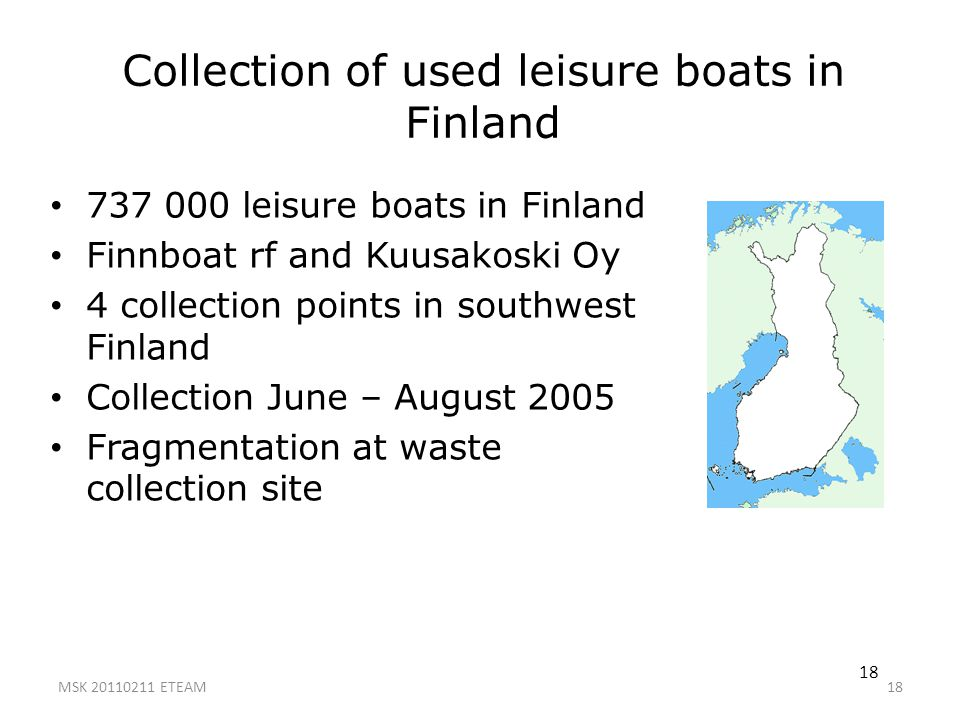 Collection of used leisure boats in Finland