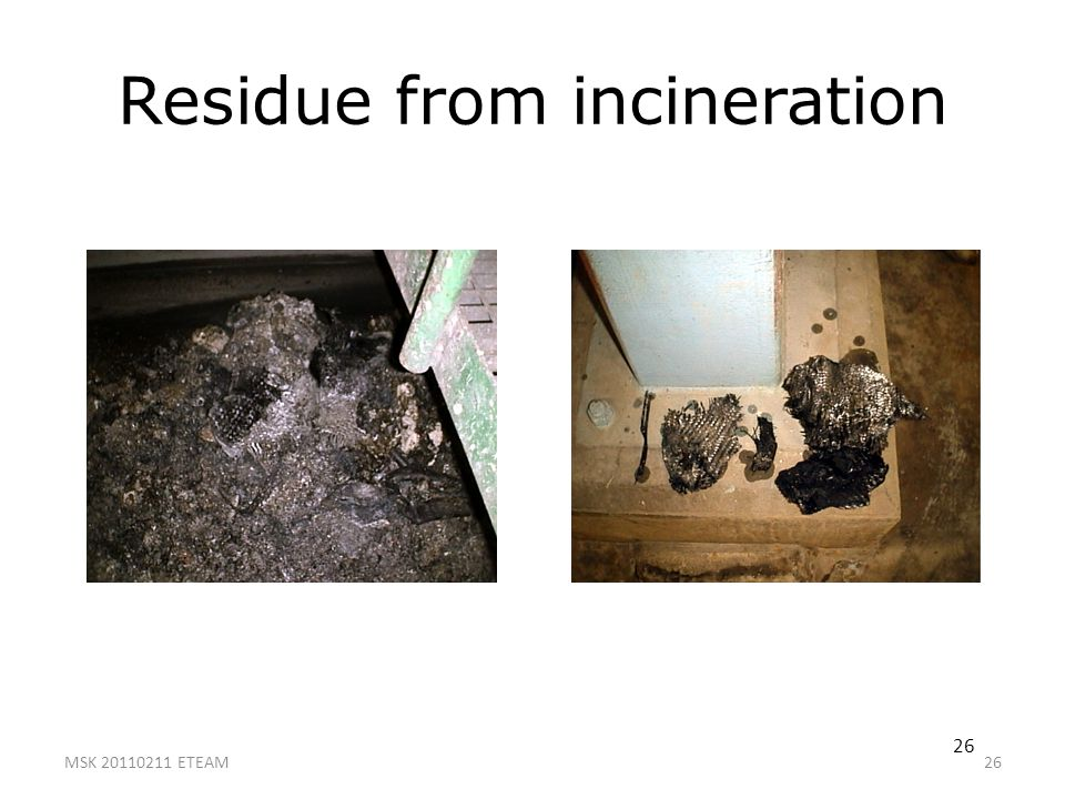 Residue from incineration