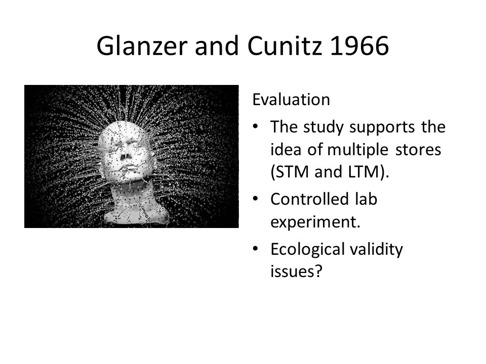 Glanzer and Cunitz 1966 Evaluation