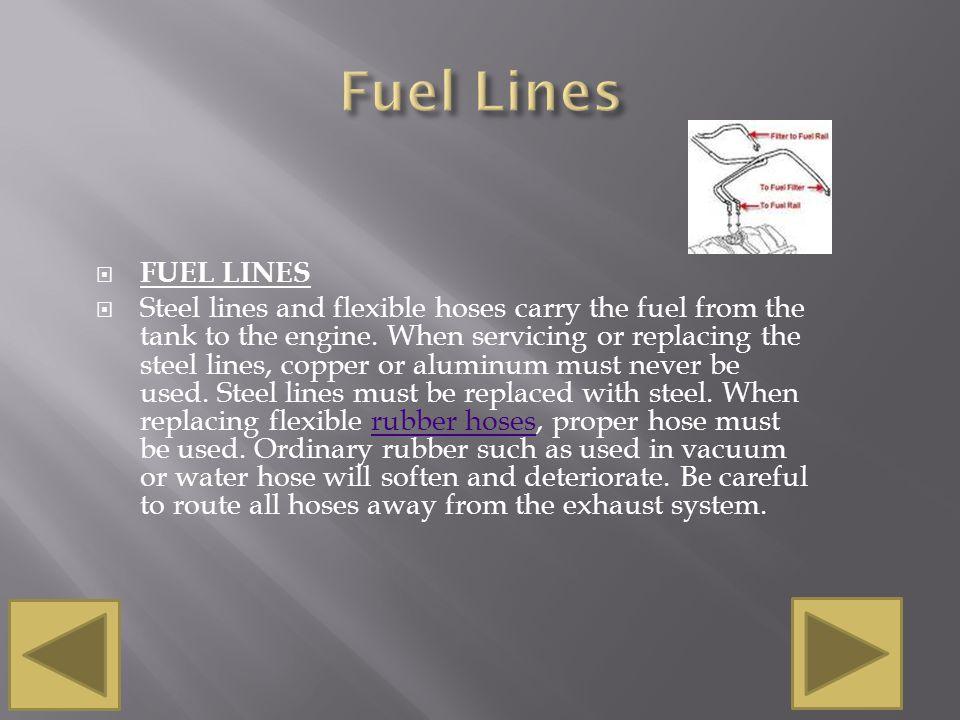 Fuel Lines FUEL LINES.