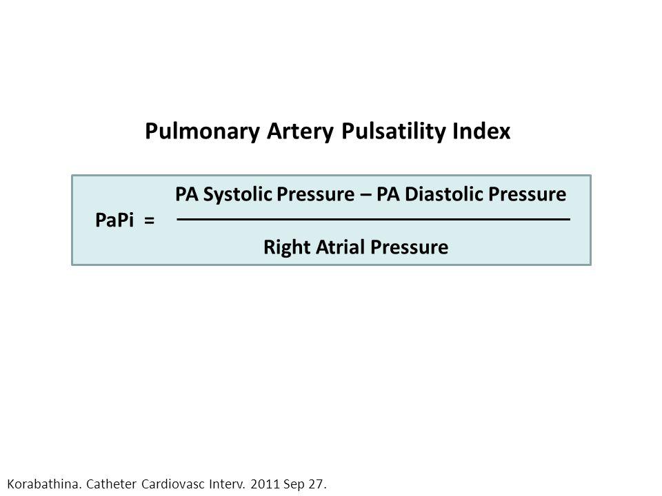 PA Systolic Pressure – PA Diastolic Pressure