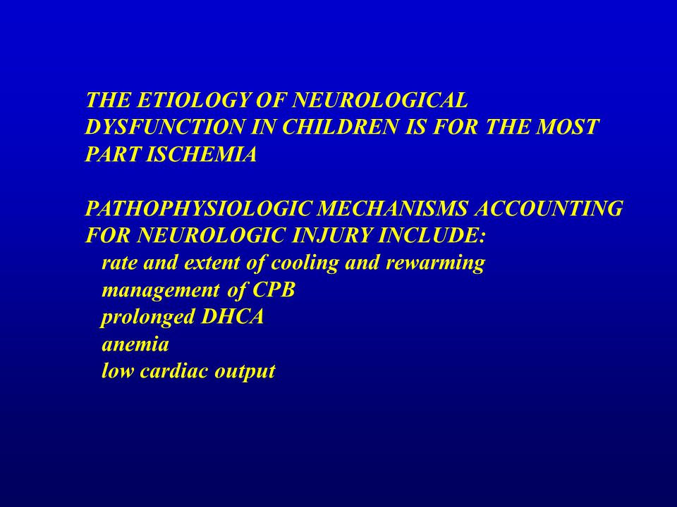 THE ETIOLOGY OF NEUROLOGICAL