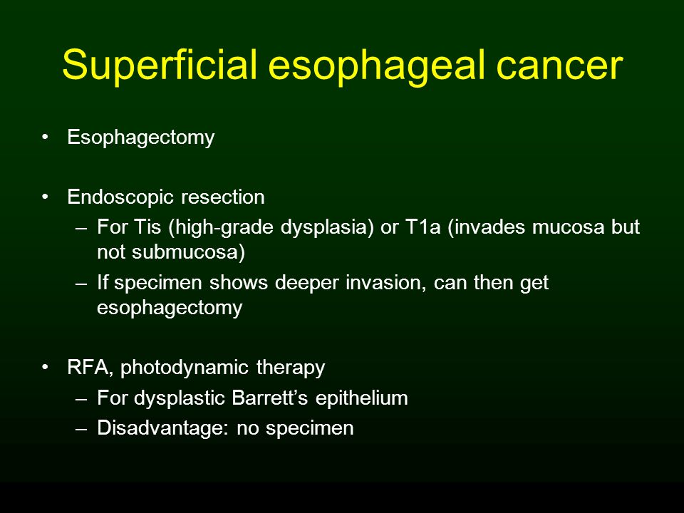 Superficial esophageal cancer