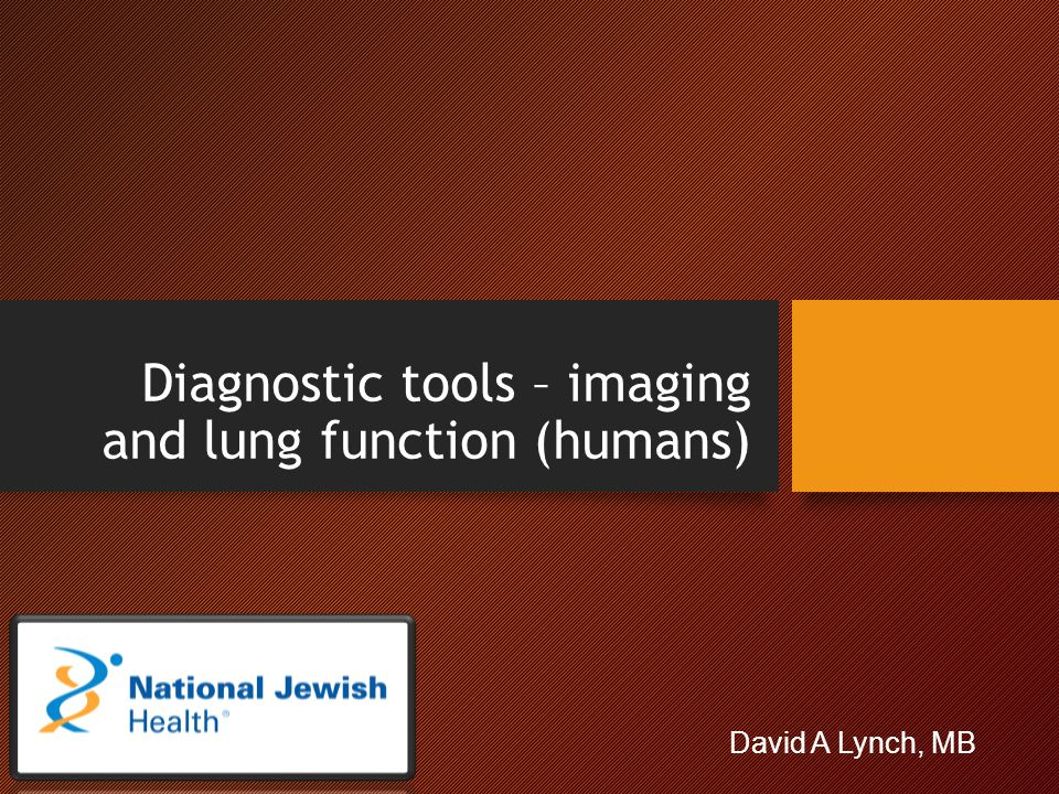 Diagnostic tools – imaging and lung function (humans)