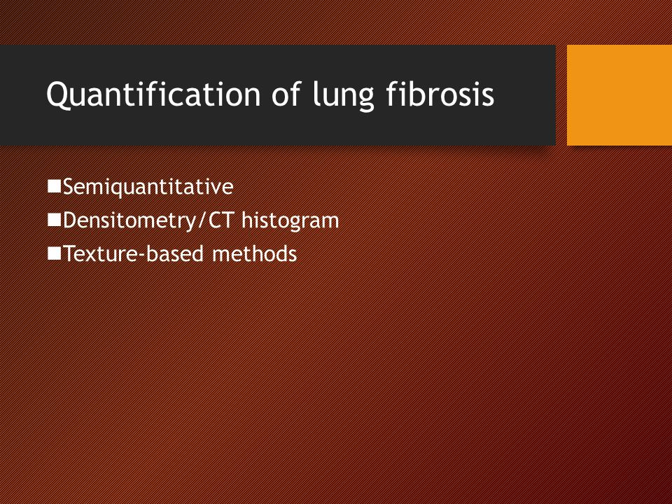 Quantification of lung fibrosis
