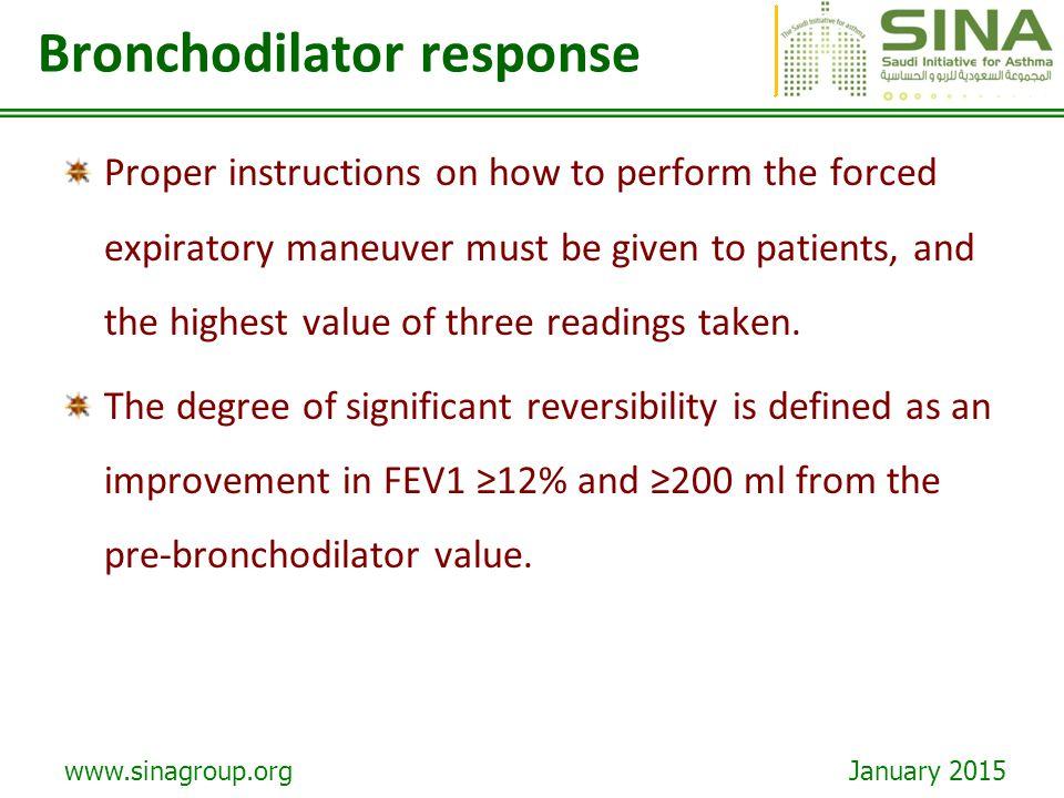 Bronchodilator response