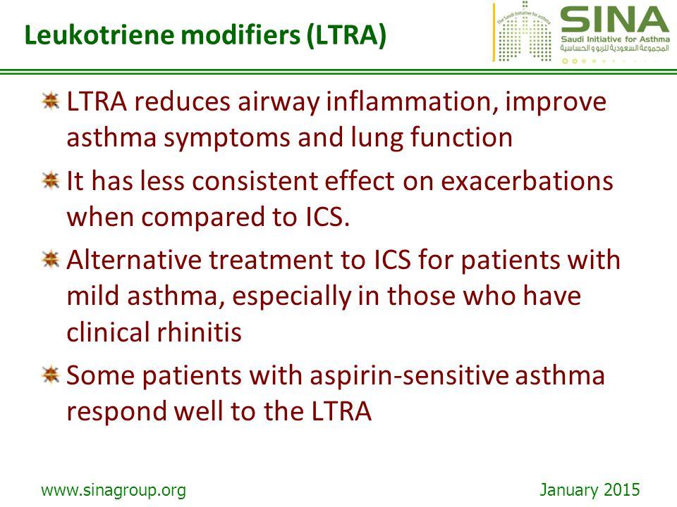 Leukotriene modifiers (LTRA)