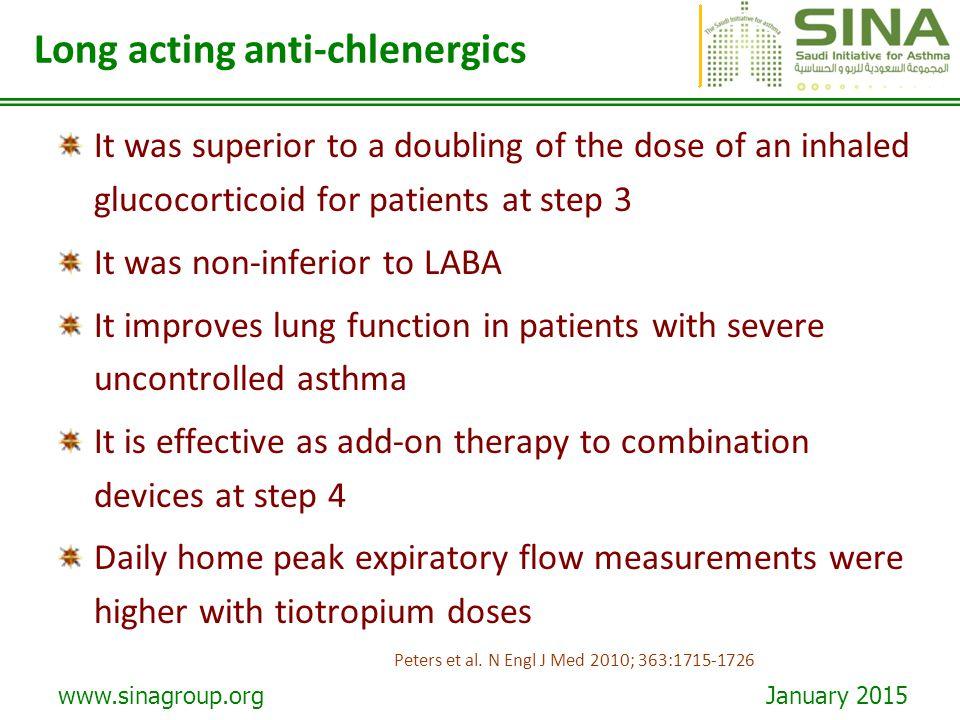 Long acting anti-chlenergics