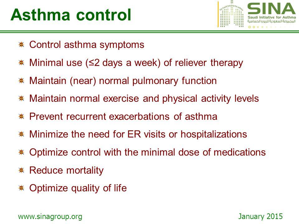 Asthma control Control asthma symptoms