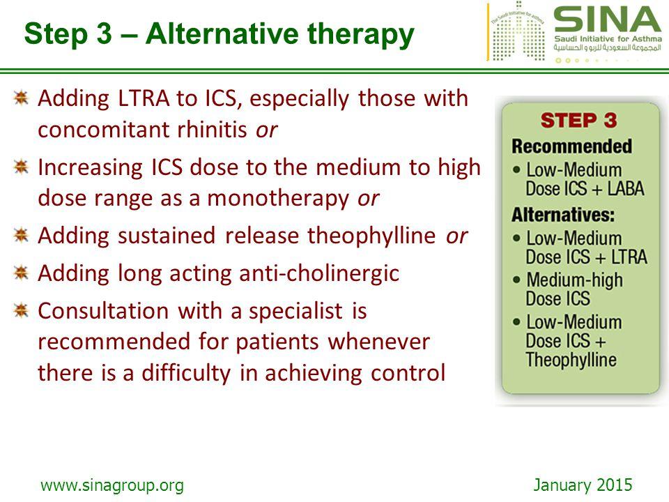 Step 3 – Alternative therapy