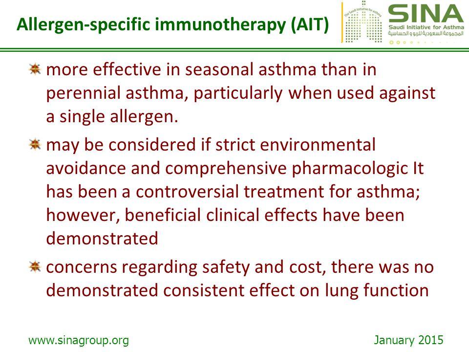 Allergen-specific immunotherapy (AIT)