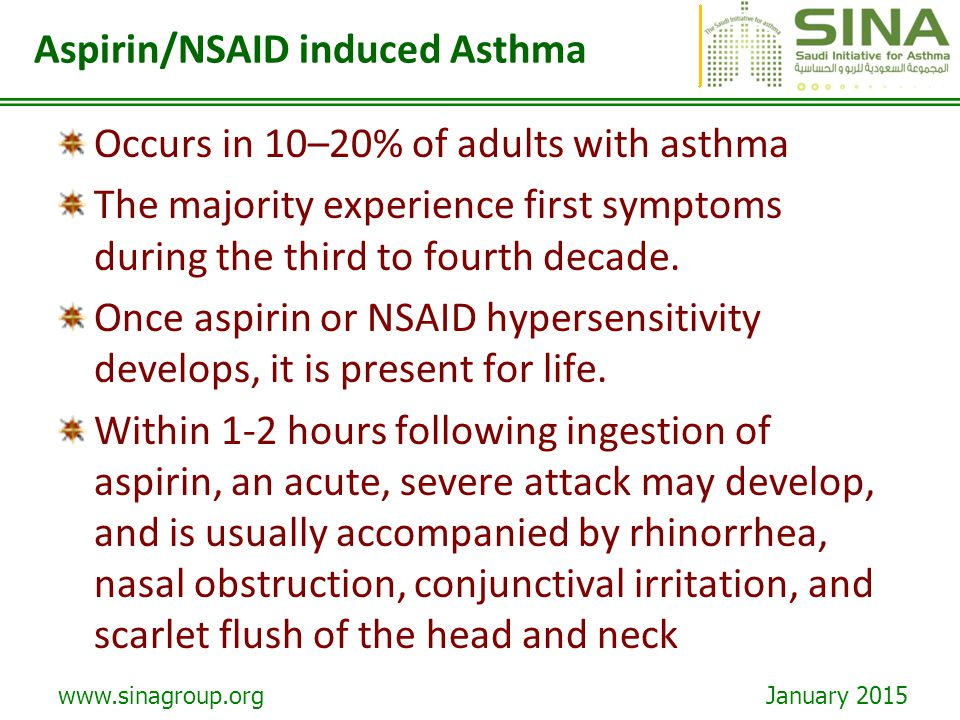 Aspirin/NSAID induced Asthma