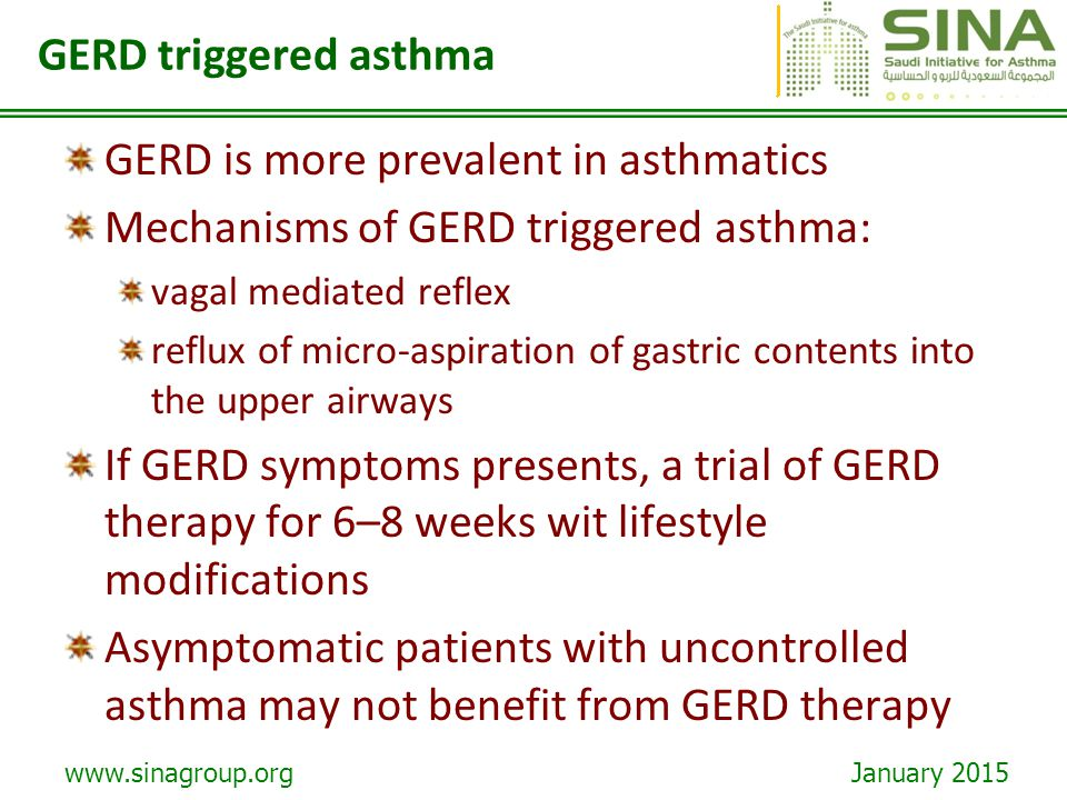 GERD is more prevalent in asthmatics
