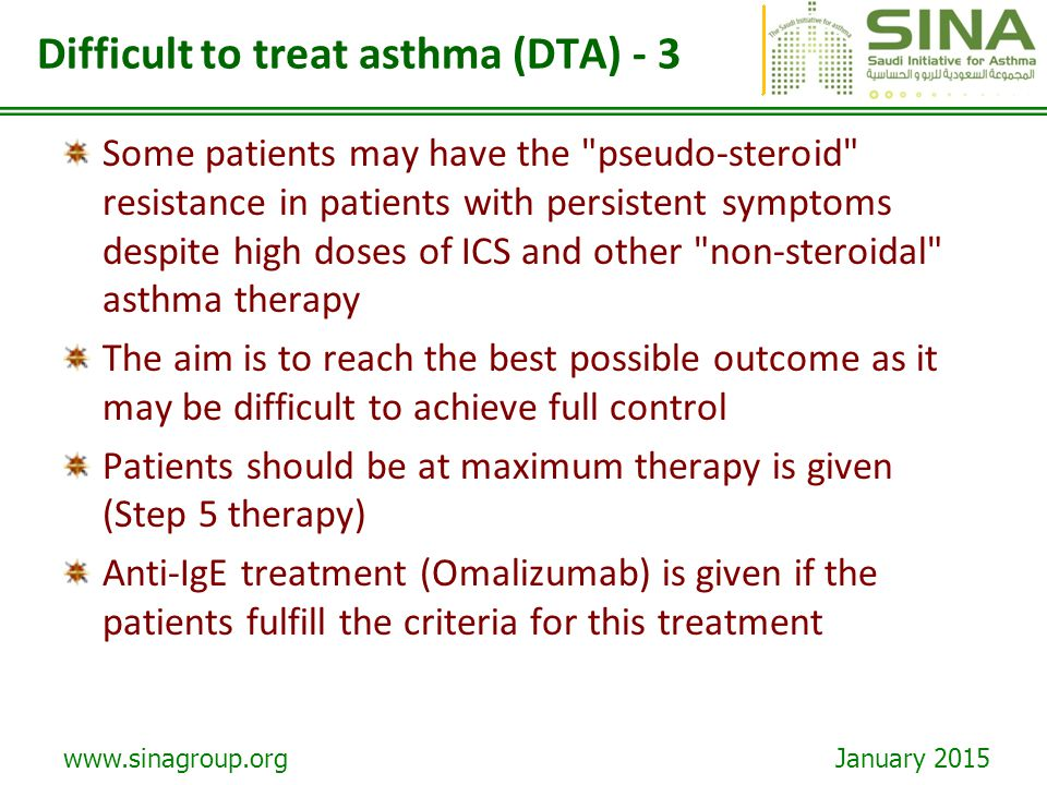 Difficult to treat asthma (DTA) - 3