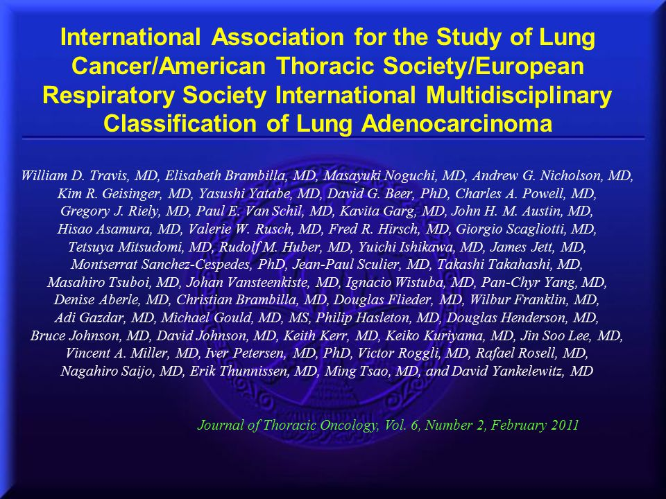 International Association for the Study of Lung