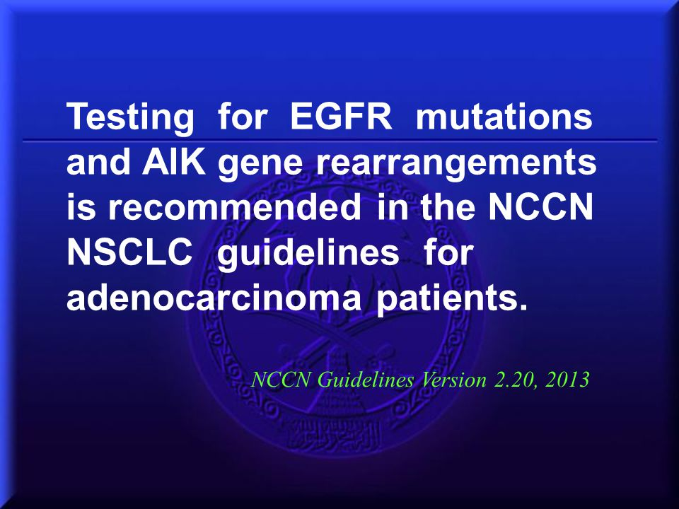 NCCN Guidelines Version 2.20, 2013