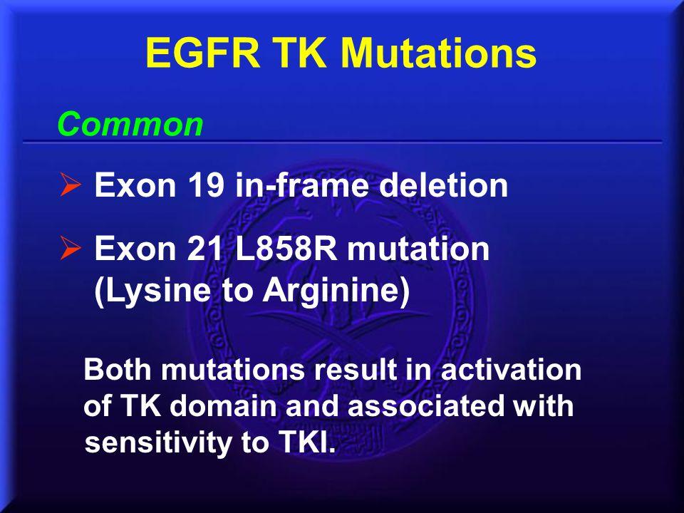 EGFR TK Mutations Common Exon 19 in-frame deletion