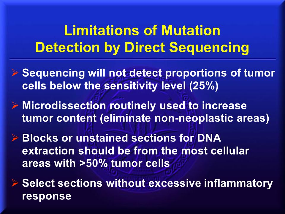 Limitations of Mutation Detection by Direct Sequencing