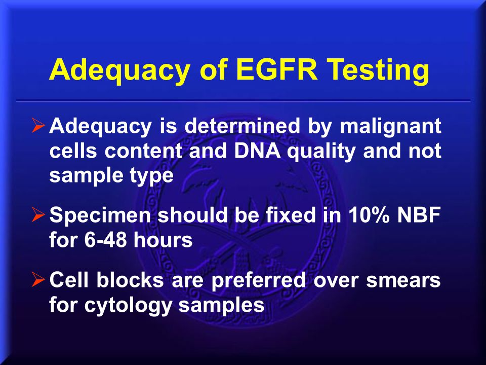 Adequacy of EGFR Testing